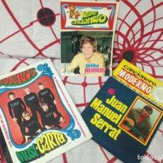 Catálogos de Música: TRES CANCIONEROS ANTIGUOS - MIKE KENNEDY - SERRAT - LOS BRAVOS. Lote 112566143