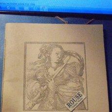 Catálogos de Música: ANTIGUO PROGRAMA ARS MUSICAE BARCELONA MCMXL - MARIA CAPDEVILA , MERCEDES LLATAS , GRACIANO TARRAGÓ . Lote 113595567
