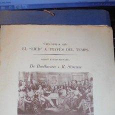 Catálogos de Música: MUSICA - PROGRAMAS CURSO 1949 /1953 - 7 PROGRAMAS VER FOTOGRAFIA DE LAS PORTADAS - 25X22 CM. . Lote 113701327