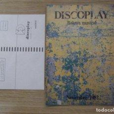 Catálogos de Música - DISCOPLAY-INFORMATIVO MUSICAL-D6-30 PAGINAS-NOVIEMBRE 1982 - 113971899