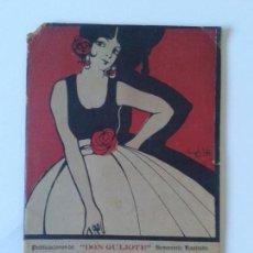 Catálogos de Música: ANTIGUA REVISTA ALBUM MUSICAL NO 1 PUBLICACIONES DON QUIJOTE SEMANARIO ILUSTRADO DIBUJO ANGEL SOTO. Lote 114768455