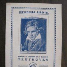 Catálogos de Música: BEETHOVEN -CATALOGO DISCOS LA VOZ DE SU AMO - MARZO 1927 -VER FOTOS -(V-13.778). Lote 114931123
