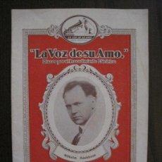 Catálogos de Música: CATALOGO DISCOS LA VOZ DE SU AMO - MARZO 1929 -VER FOTOS -(V-13.779). Lote 114931263