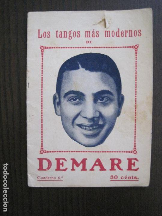 LOS TANGOS MAS MODERNOS - DEMARE -VER FOTOS-(V-13.863) (Música - Catálogos de Música, Libros y Cancioneros)