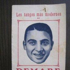 Catálogos de Música: LOS TANGOS MAS MODERNOS - DEMARE -VER FOTOS-(V-13.863). Lote 115713979