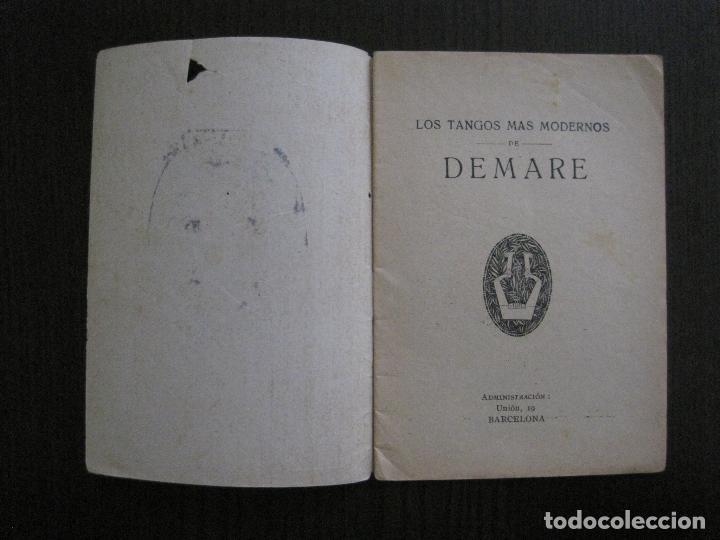 Catálogos de Música: LOS TANGOS MAS MODERNOS - DEMARE -VER FOTOS-(V-13.863) - Foto 2 - 115713979