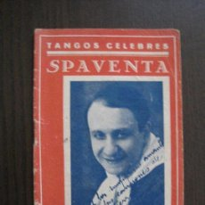 Catálogos de Música: TANGOS CELEBRES - SPAVENTA -VER FOTOS-(V-13.869). Lote 115715611