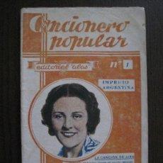 Catálogos de Música: IMPERIO ARGENTINA - CANCIONERO POPULAR -VER FOTOS-(V-13.870). Lote 115715795