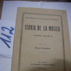 Catálogos de Música: ANTIGUO LIBRO DE TEXTO - TEORIA DE LA MUSICA. Lote 116130551