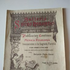 Catálogos de Música: SALTERIO SACRO HISPANO, MUSICA RELIGIOSA, SOLFEO (BERNARDO MARIA CERDÓ. Lote 117622931