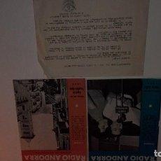 Catálogos de Música: LA VOZ DE RADIO ANDORRA. Lote 117677683