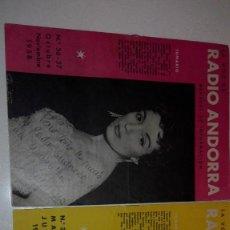 Catálogos de Música: REVISTA LA VOZ DE RADIO ANDORRA. Lote 117677939
