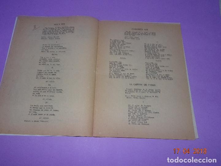 Catálogos de Música: Antiguo Cancionero de la Pelicula *EL ÚLTIMO CUPLÉ* de SARITA MONTIEL y Ediciones BISTAGE Año 1957 - Foto 3 - 118501271