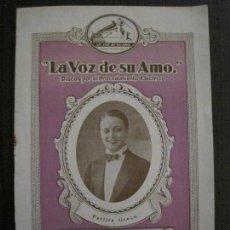 Catálogos de Música: LA VOZ DE SU AMO - CATALOGO DISCOS - AGOSTO 1929 - VER FOTOS - (V-14.303). Lote 118562371