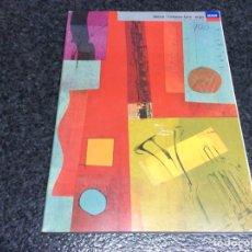 Catálogos de Música: CATALOGUE - DECCA- L'OISEAU-LYRE- ARGO.- CD-MC- VIDEO, CATALOGO 91/92 - 1991 - 1992. Lote 120789687