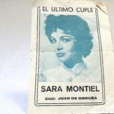 Catálogos de Música: CANCIONERO DE SARA MONTIEL. Lote 120902203