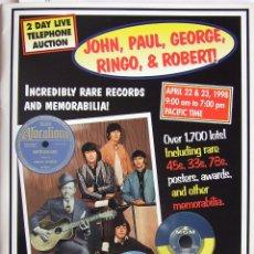 Catálogos de Música: CATALOGO USA GOOD ROCKIN' TONIGHT BEATLES DAVID BOWIE ROBERT JOHNSON . Lote 121020395