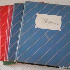 Catálogos de Música: GRIEG - MOZART - PAGANINI - TCHAIKOVSKY - WAGNER - CHOPIN. LOTE DE 6 LIBROS DE E.D.H.A.S.A. TAPA DUR. Lote 121411743