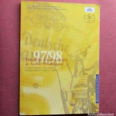 Catálogos de Música: DEUTSCHE GRAMMOPHON - CATALOGO COMPLETO DE CD Y DVD - 97 98 - 1997 1998 - 232 PAGINAS ILUSTRADAS. Lote 121450375