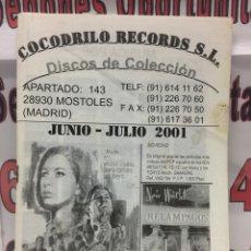 Catálogos de Música - Catálogo Cocodrilo Records Jun Jul 2001 discos de coleccion - 102 páginas - 121718976