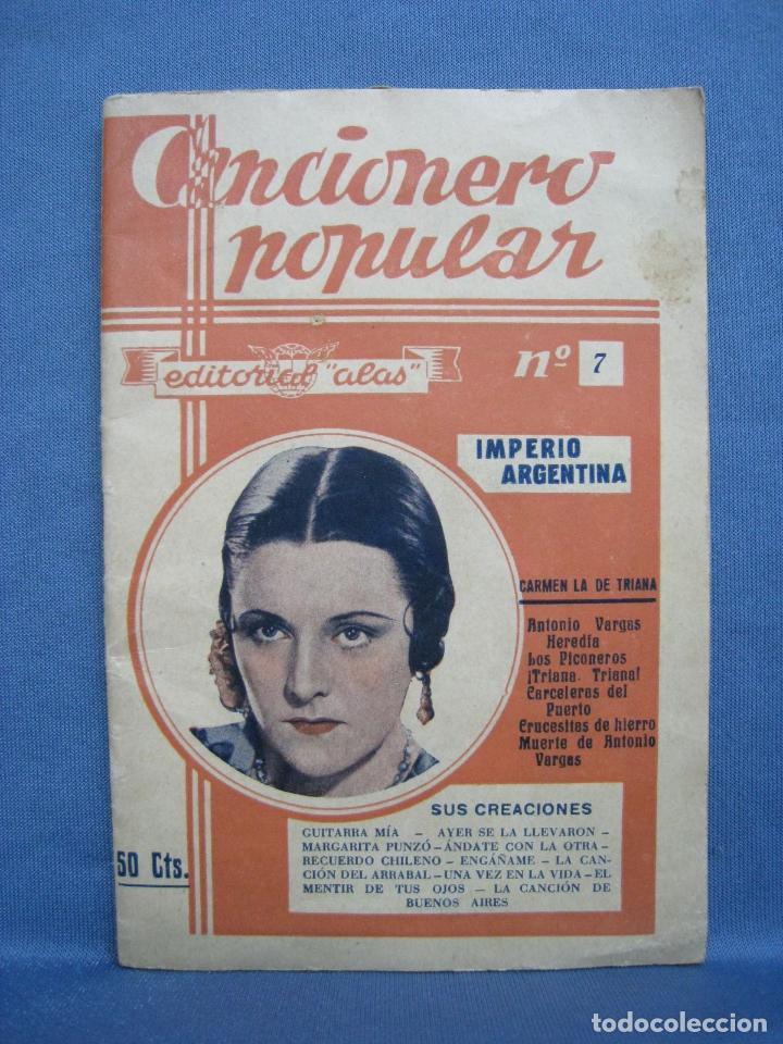 IMPERIO ARGENTINA. ALAS. CANCIONERO POPULAR 7 (Música - Catálogos de Música, Libros y Cancioneros)