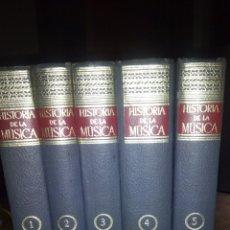 Catálogos de Música: HISTORIA DE LA MUSICA (5 TOMOS) COMPLETA1°EDICION. Lote 122345234