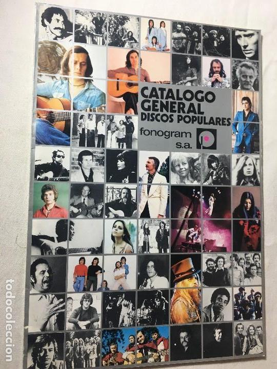 RA4 ANTIGUO DISCO DISCOS CATALOGO GENERAL CATALOGO FONOGRAM ORIGINAL AÑOS 70, 66 PAGINAS (Música - Catálogos de Música, Libros y Cancioneros)
