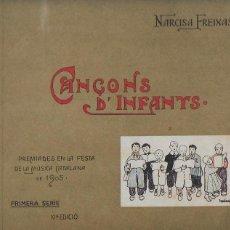 Catálogos de Música: CANÇONS D' INFANTS / N. FREIXAS; IL. TORNÉ ESQUIUS. BCN : HENRICH, 19??. 10NA ED. 23X27CM. 30 P.. Lote 123559591