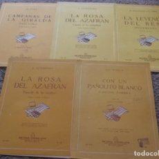 Catálogos de Música: LOTE 5 PATITURAS DE ZARZUELA. Lote 125139343