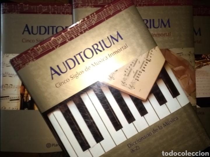 AUDITORIUM. CINCO SIGLOS DE MISMO INMORTAL. EDITORIAL PLANETA CONSTA DE 4 TOMOS: CRÓNICA DE LA MÚSIC (Música - Catálogos de Música, Libros y Cancioneros)