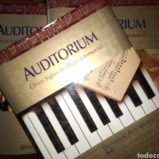 Catálogos de Música: AUDITORIUM. CINCO SIGLOS DE MISMO INMORTAL. EDITORIAL PLANETA CONSTA DE 4 TOMOS: CRÓNICA DE LA MÚSIC. Lote 125303223