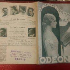 Catálogos de Música: CATALOGO MUSICA MARTA EGGERTH VUELAN MIS CANCIONES DISCOS ODEON FEBRERO 1934. Lote 125647943