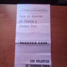 Catálogos de Música: CARNAVAL 1985 - ENTIERRO DE LA SARDINA - CANCIONERO - PUBLICIDAD CAJA AHORROS CUENCA Y CIUDAD REAL. Lote 125897083