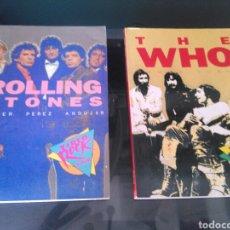Catálogos de Música: LOTE DE DOS LIBROS MUSICALES. BIOGRAFIAS THE WHO Y THE ROLLING STONES. Lote 126031504