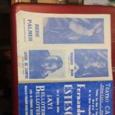 Catálogos de Música: FERNANDO ESTESO PROGRAMA DE MANO DÍPTICO DEL TEATRO CALDERON DE MADRID.... Lote 126045531