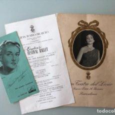 Catálogos de Música: PROGRAMA OPERA GRAN TEATRO DEL LICEO POR MARÍA MENEGHINI CALLAS 1959. Lote 126101611