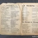Catálogos de Música: LOS ÚLTIMOS ÉXITOS DE LA CANCIÓN. HOJA SUELTA, CON BOLEROS, TANGOS Y PASADOBLES... (H.1930?). Lote 126731459