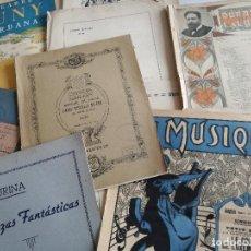 Catálogos de Música: LOTE DE 24 PARTITURAS ANTIGUAS: MANUEL DE FALLA, ALBÉNIZ, ALIÓ, BRUNNER, LISZT, FREDERIC MOMPOU.... Lote 127664959
