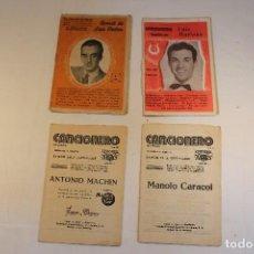 Catálogos de Música: LOTE DE 4 CANCIONEROS. Lote 129104695