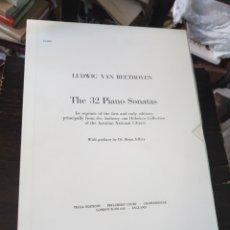 Catálogos de Música: THE 32 PIANOS SONATAS. BEETHOVEN, L. V. 5 VOL. TECLA. LONDON, 1989. Lote 129252871
