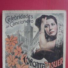 Catálogos de Música: CELEBRIDADES DEL CANCIONERO. COLECCIÓN CONCHITA PIQUER Nº 4. CONTIENE 8 FOTOGRAFÍAS. COMPLETO.. Lote 130125439