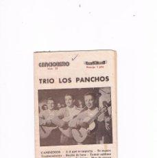 Catálogos de Música: CANCIONERO TRIO LOS PANCHOS ANTIGUO EDITORIAL ALAS. Lote 130357410