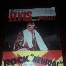 Catálogos de Música: ELVIS PRESLEY ROCK REVIVAL. Lote 130726664