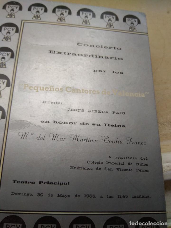Catálogos de Música: Programa Concierto Pequeños Cantores de Valencia en Honor de María del Mar Martínez Bordiu Franco - Foto 2 - 131456210