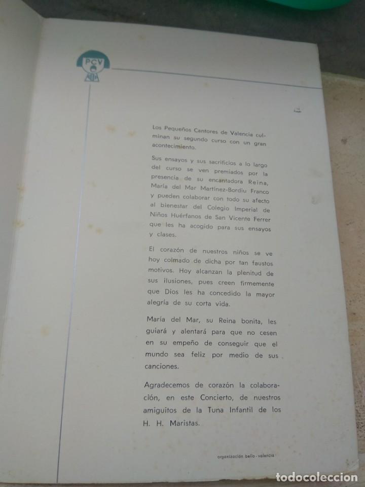 Catálogos de Música: Programa Concierto Pequeños Cantores de Valencia en Honor de María del Mar Martínez Bordiu Franco - Foto 4 - 131456210