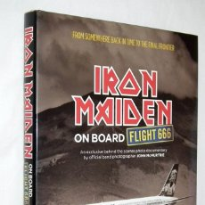 Catálogos de Música: LIBRO IRON MAIDEN - ON BOARD FLIGHT 666. Lote 131877482