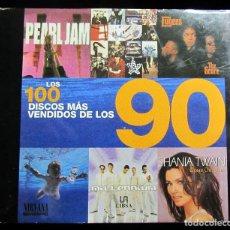Catálogos de Música: LOS 100 DISCOS MAS VENDIDOS DE LOS 90 THE 100 BEST-SELLING ALBUMS OF THE 90S (SPANISH EDITION) / AU. Lote 132247982