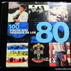 Catálogos de Música: LOS 100 DISCOS MAS VENDIDOS DE LOS 80 (SPANISH EDITION) / AUTY, DAN; CAWTHORNE, JUSTIN. Lote 132248046