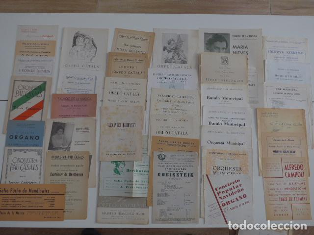 GRAN LOTE DE 39 CATALOGO Y FOLLETO DE PALACIO DE LA MUSICA CATALANA, ORIGINALES. VARIEDAD. (Música - Catálogos de Música, Libros y Cancioneros)