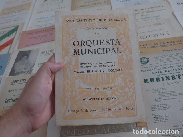 Catálogos de Música: Gran lote de 39 catalogo y folleto de palacio de la musica catalana, originales. Variedad. - Foto 2 - 132904486
